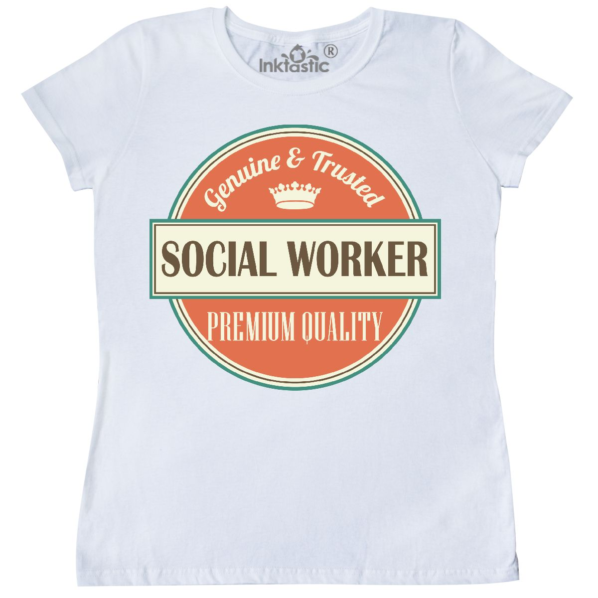 inktastic social worker funny gift idea women's t-shirt retired