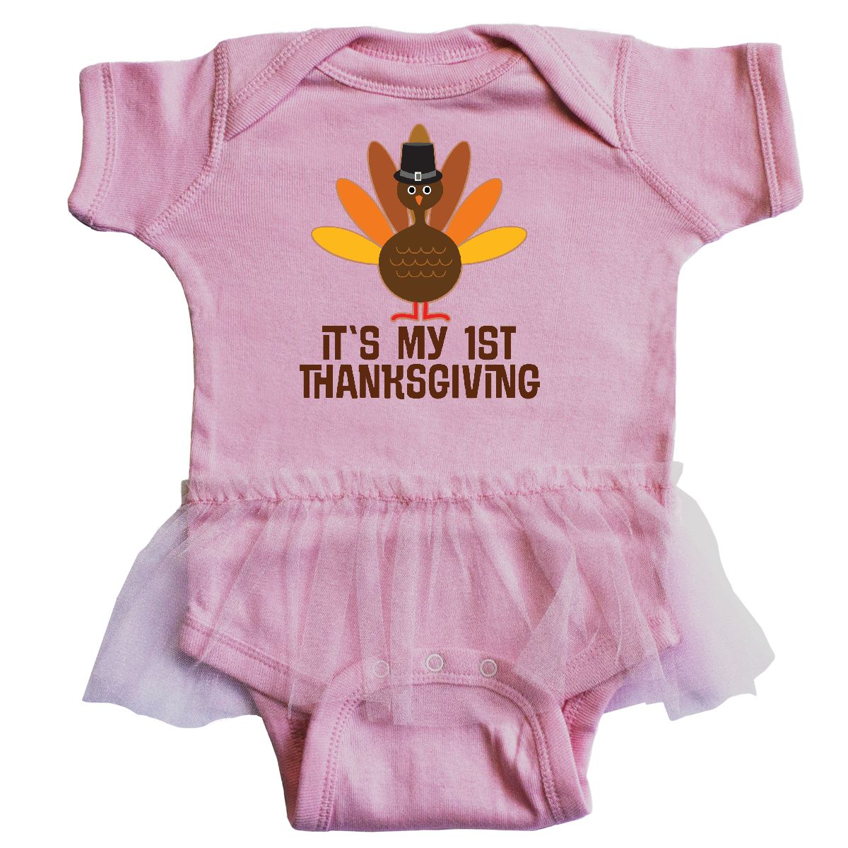 inktastic My 1st Thanksgiving Infant Tutu Bodysuit