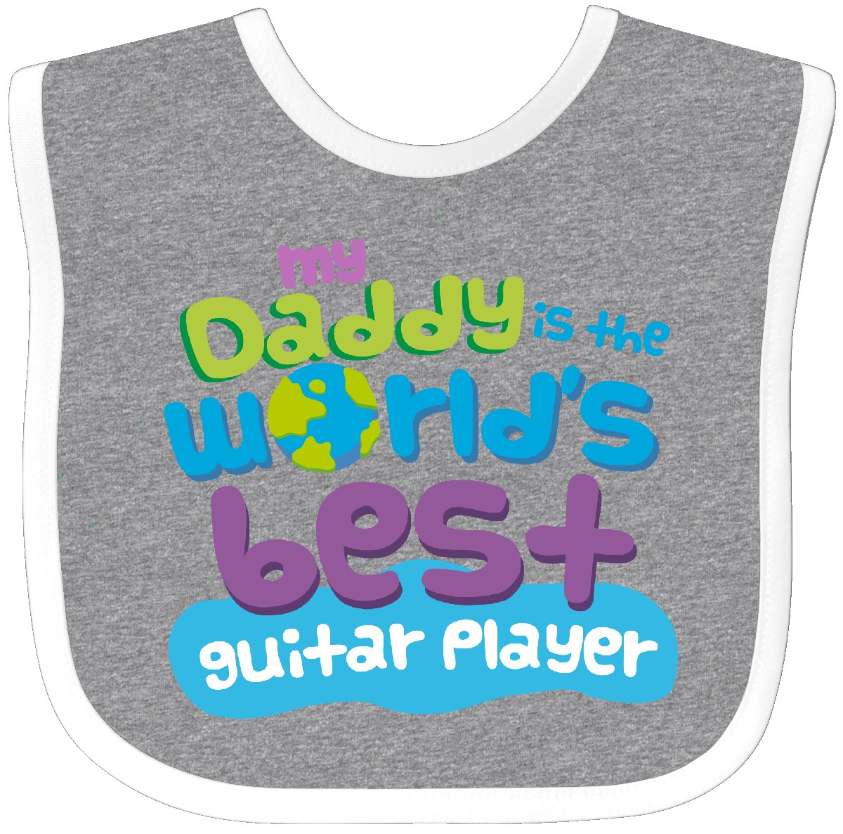 Details about Inktastic World's Best Guitar Player Daddy Baby Bib Child's  Kids Gift Player's