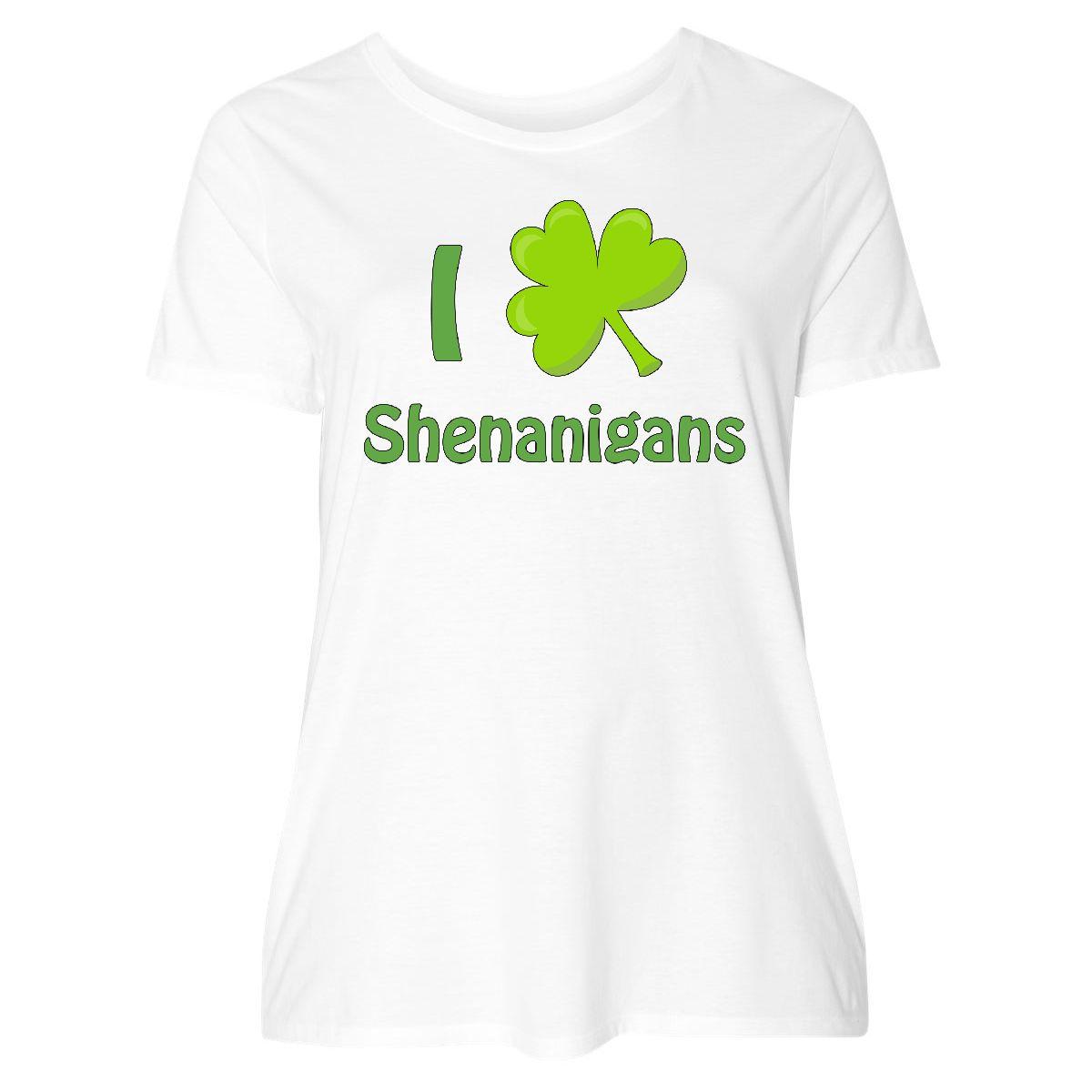 82ce60f8b97 Details about Inktastic I Heart Shenanigans Women s Plus Size T-Shirt Saint  Patricks Day Love