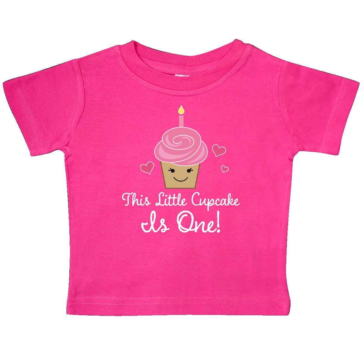 2b8c849857ffb Inktastic 1st Birthday Cupcake Girls Cute Baby T-Shirt First One ...