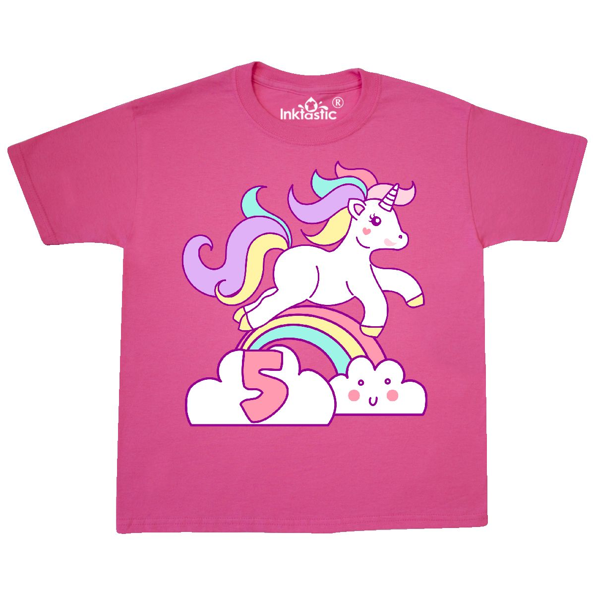 Inktastic Unicorn 5th Birthday Youth T Shirt Bday