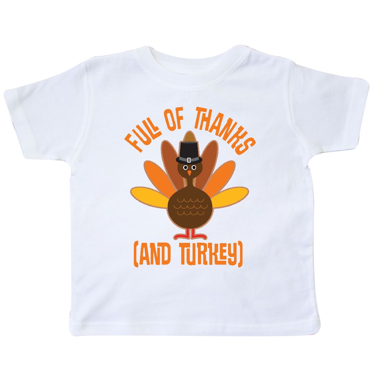 e09c684f3 Inktastic Thanksgiving Dinner Holiday Turkey Toddler T-Shirt Pilgrim ...
