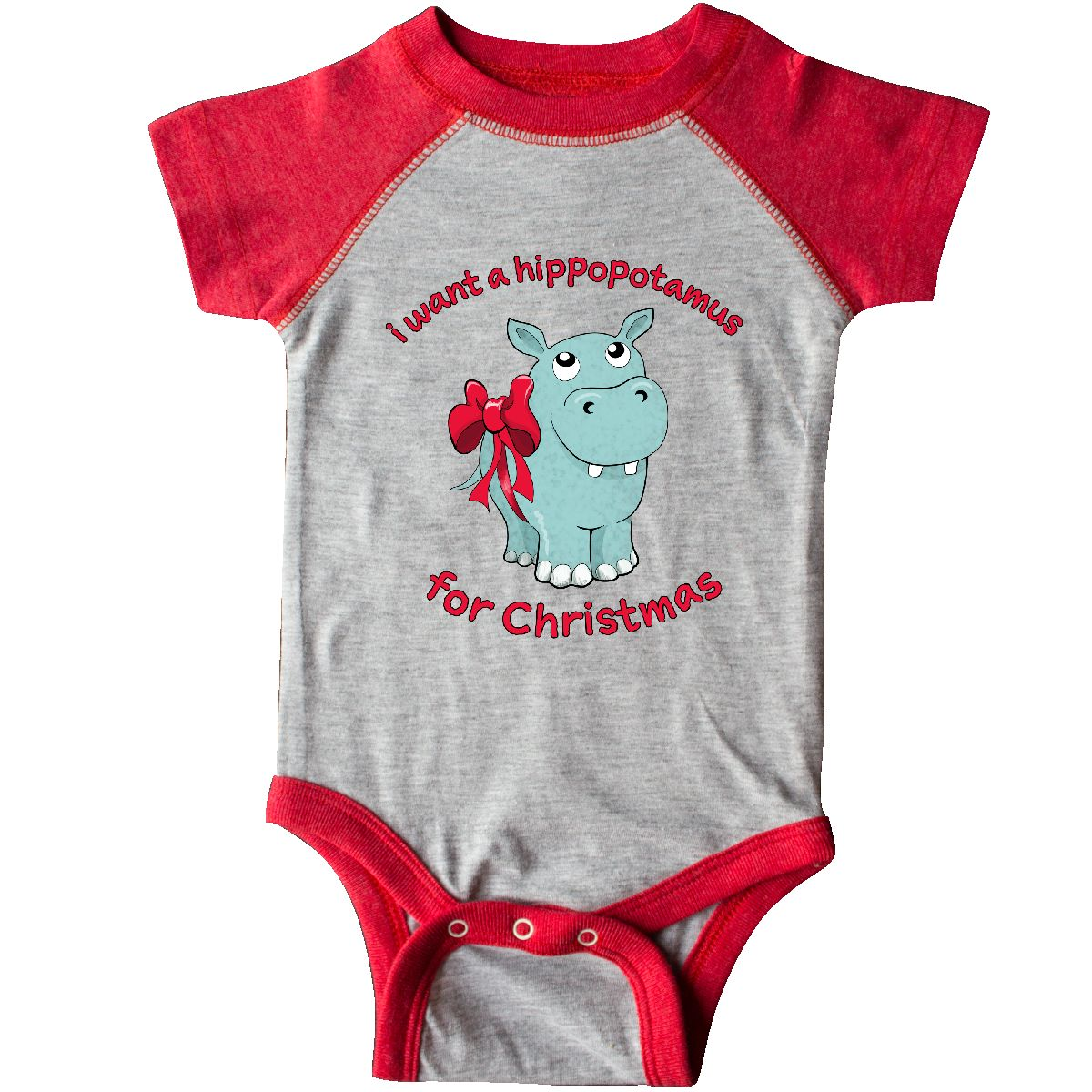 Inktastic I Want A Hippopotamus For Christmas Infant Bodysuit Cute ...