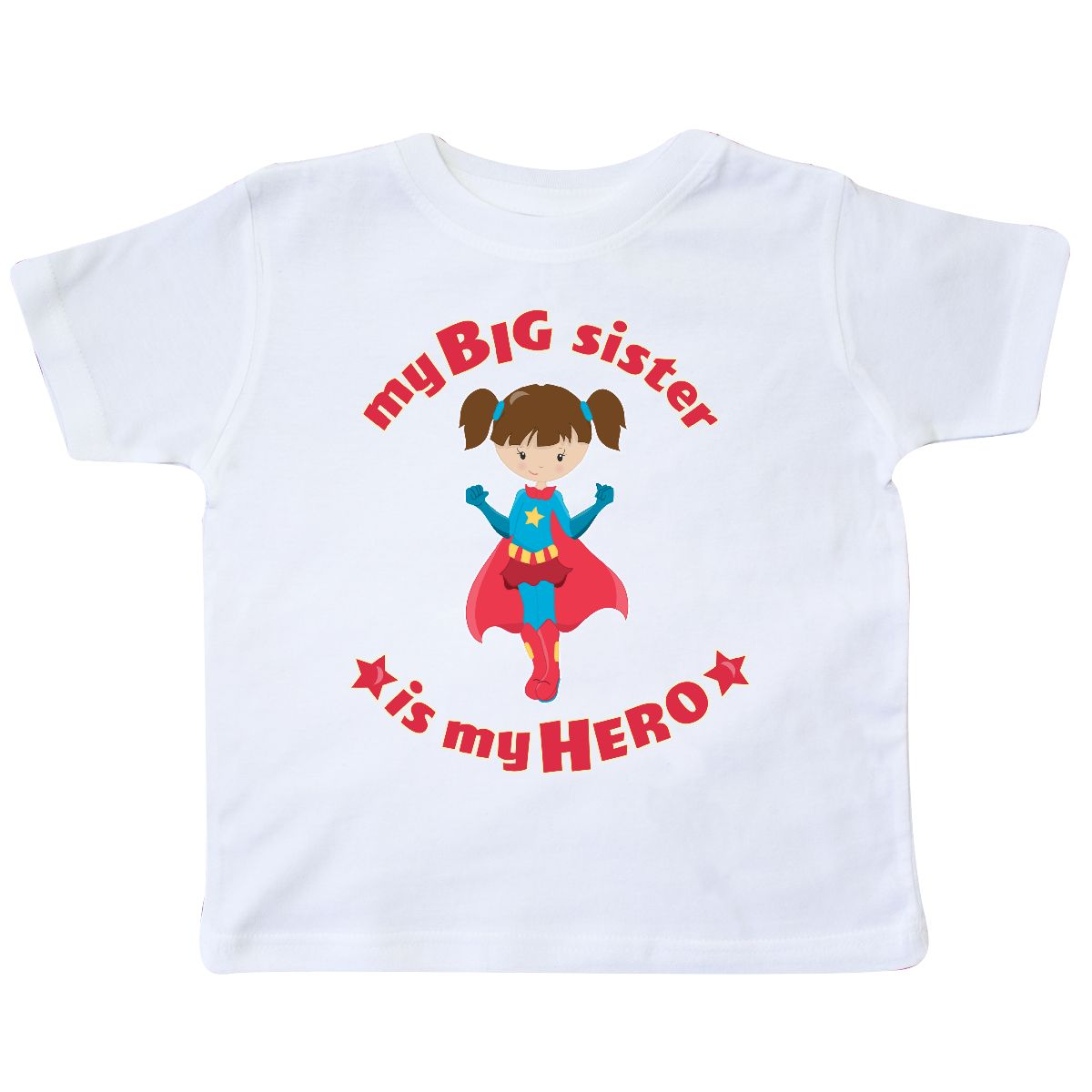 Inktastic My Big Sister Is My Hero Toddler T-Shirt Sibling S