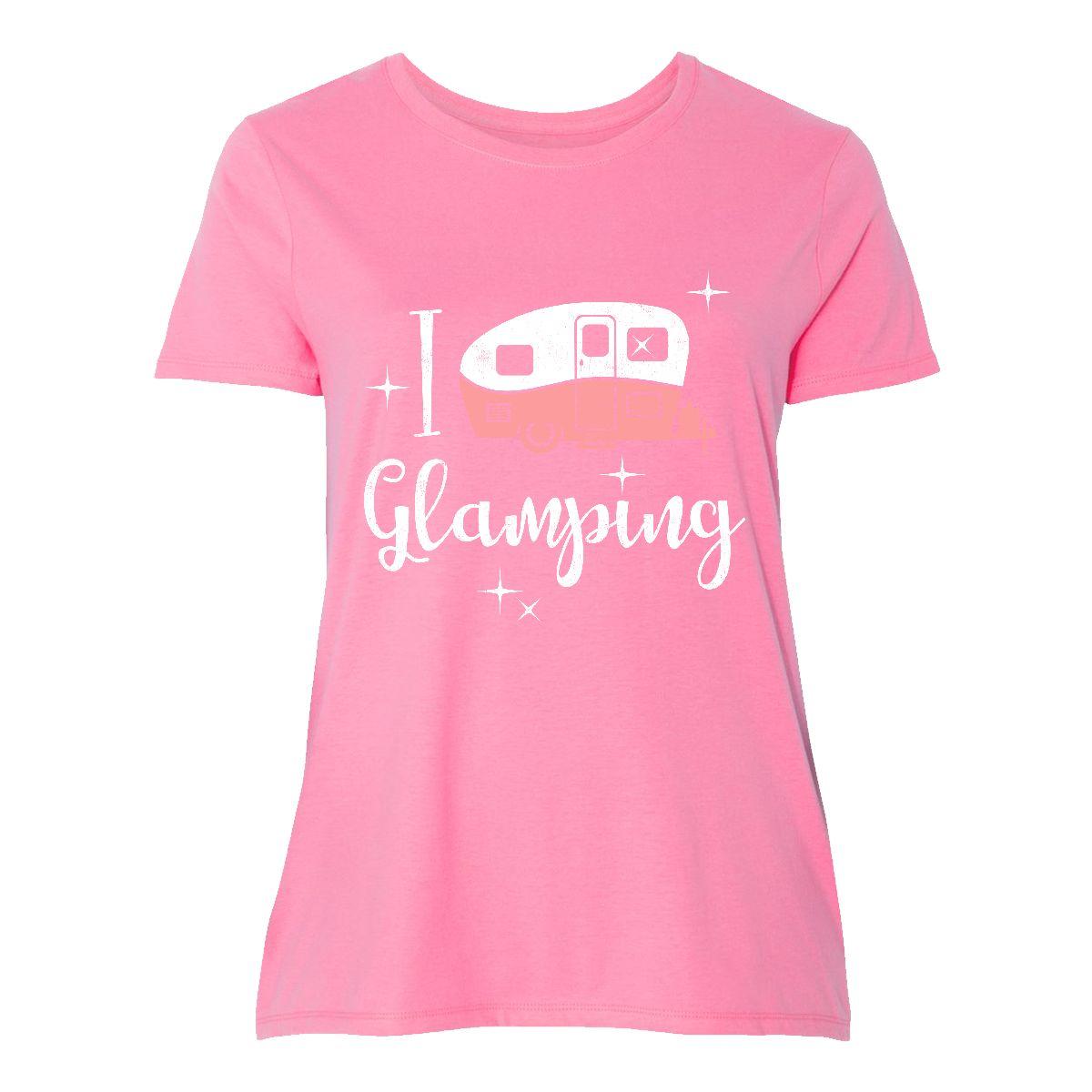 dd6f0dbb Inktastic I Love Glamping Women's Plus Size T-Shirt Happy Glamper ...
