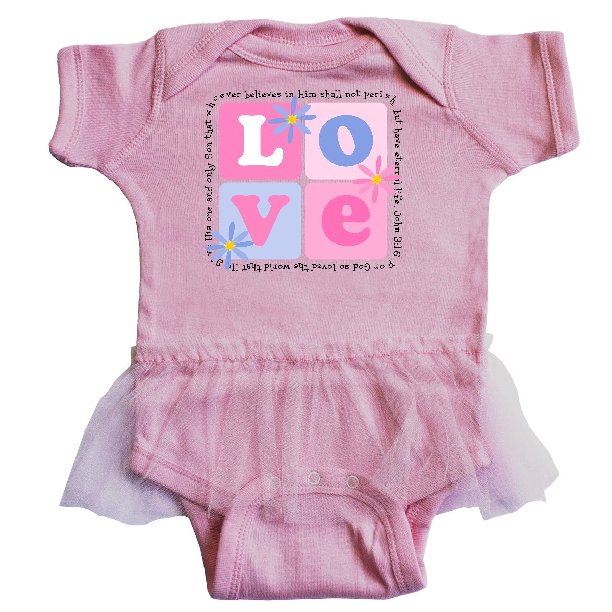 Inktastic John 3:16 Infant Tutu Bodysuit 3:16 Christian Christ Jesus ...