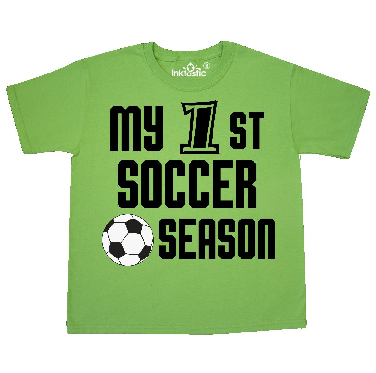 c3bb919c Inktastic My 1st Soccer Season Youth T-Shirt Children First Boy ...