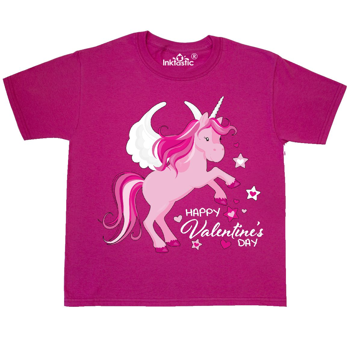 Inktastic Happy Valentine S Day Pink Pegasus Unicorn Alicorn Youth T