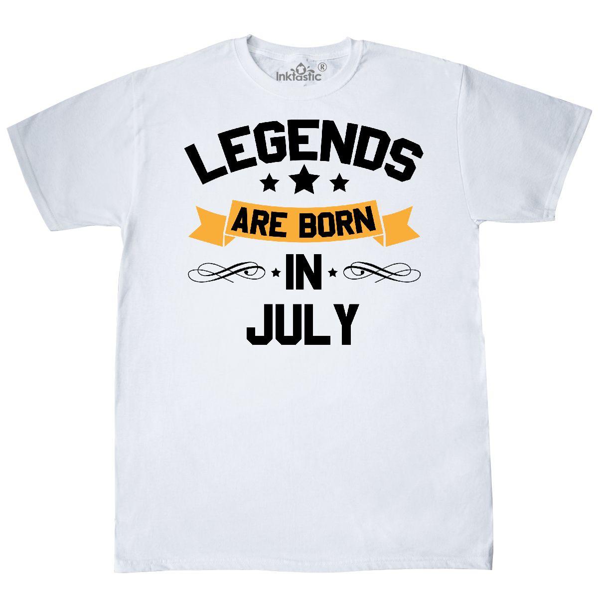 cb206505 Inktastic Legends Are Born In July T-Shirt Birthdays Month Birthday ...