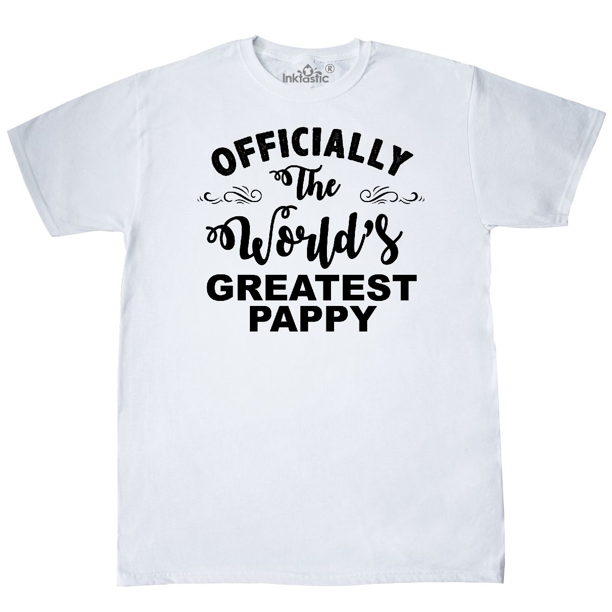 5529af4dc Inktastic Officially The World's Greatest Pappy T-Shirt Best Mens ...