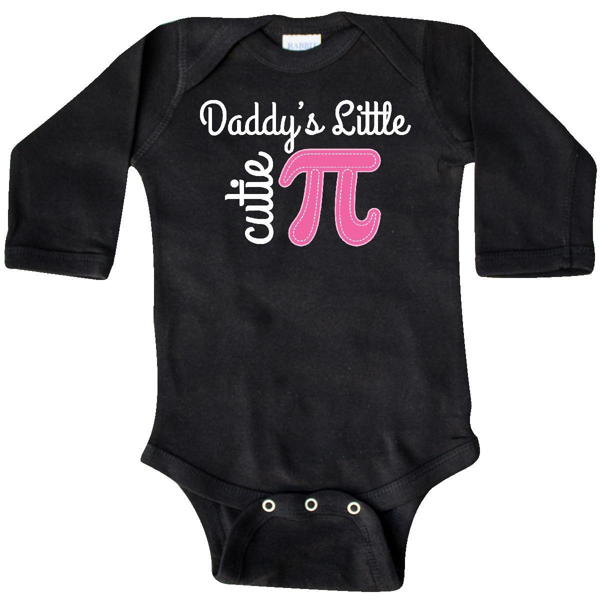 Inktastic Daddy Little Cutie Pi Day Math Girls Long Sleeve Creeper ...