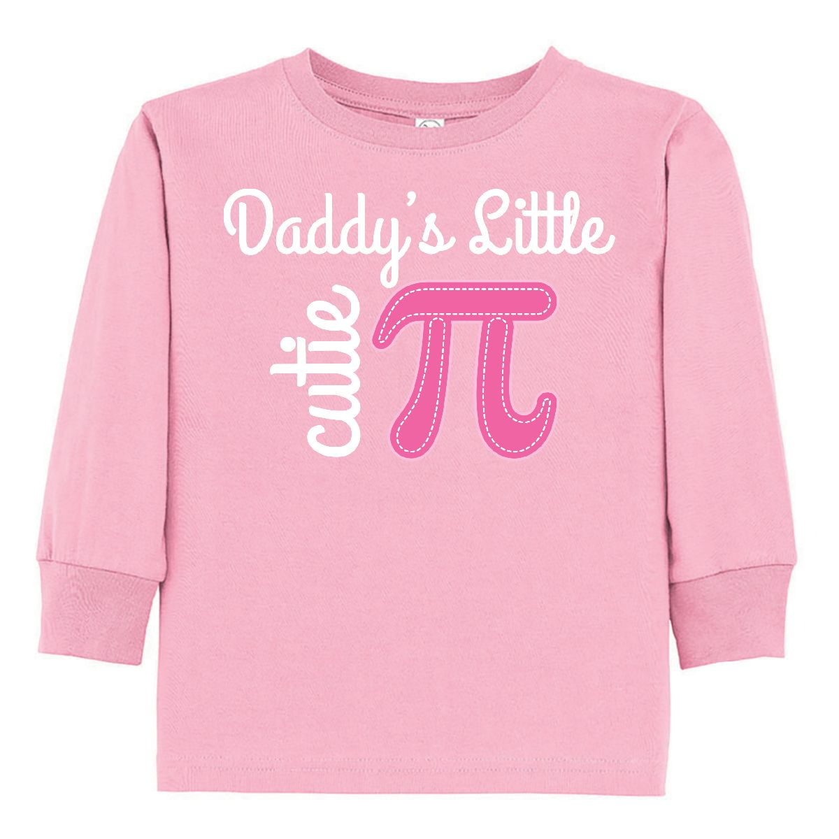 Inktastic Daddy Little Cutie Pi Day Math Girls Toddler Long Sleeve T ...