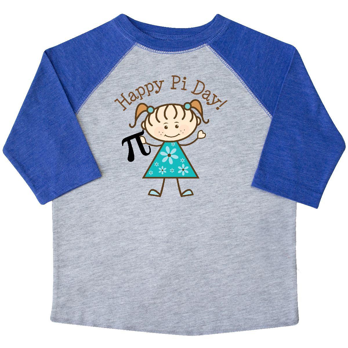 Inktastic Happy Pi Day Cute Girls Math Toddler T-Shirt Symbol ...