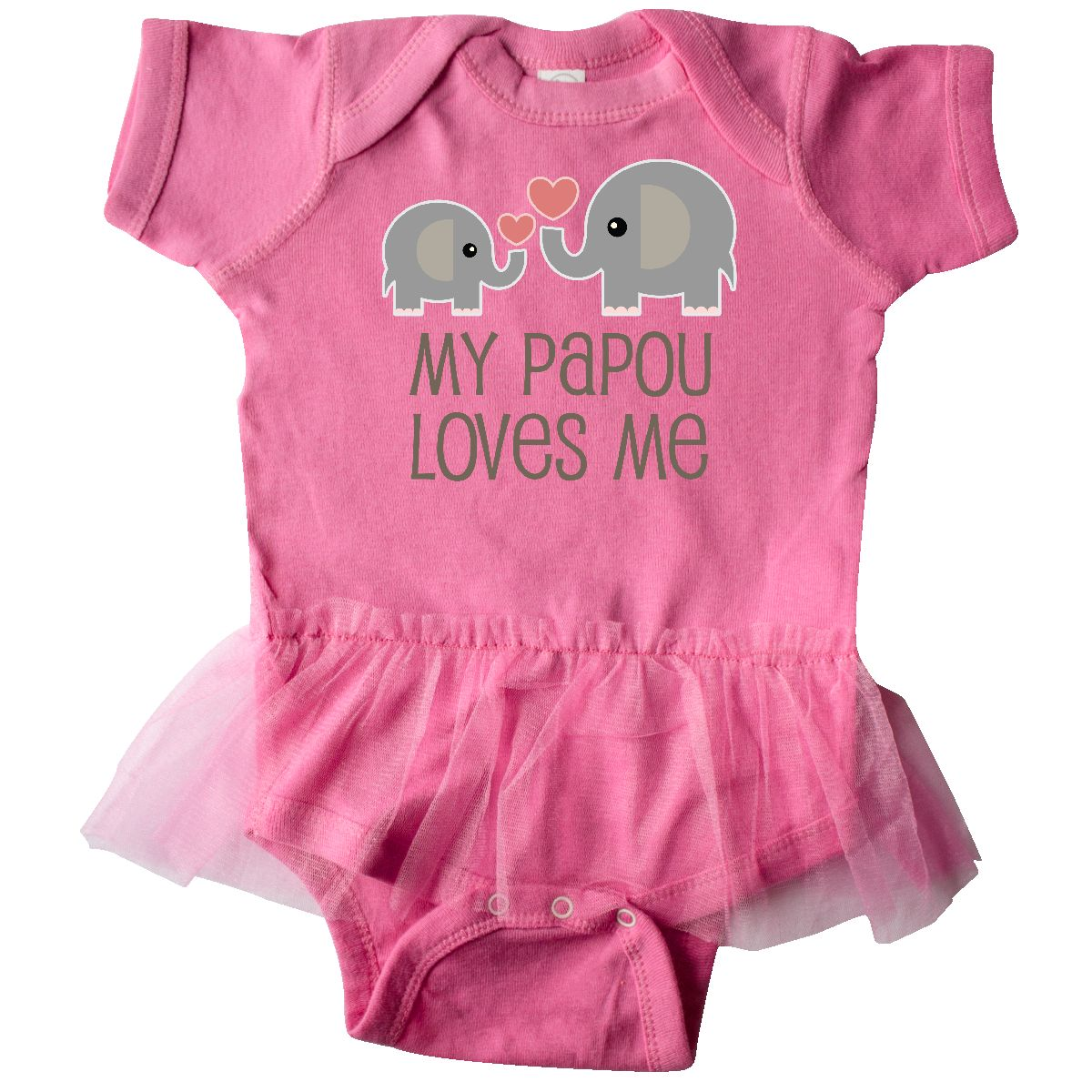 Cute Elephant Long Sleeve Creeper inktastic Pawpaw Loves Me Lots and Lots