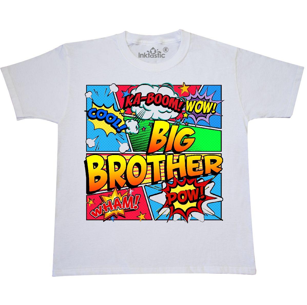 31b31e9b47d49 INKtastic Big Brother Comic Book Youth T-shirt Superhero Tee Kids ...