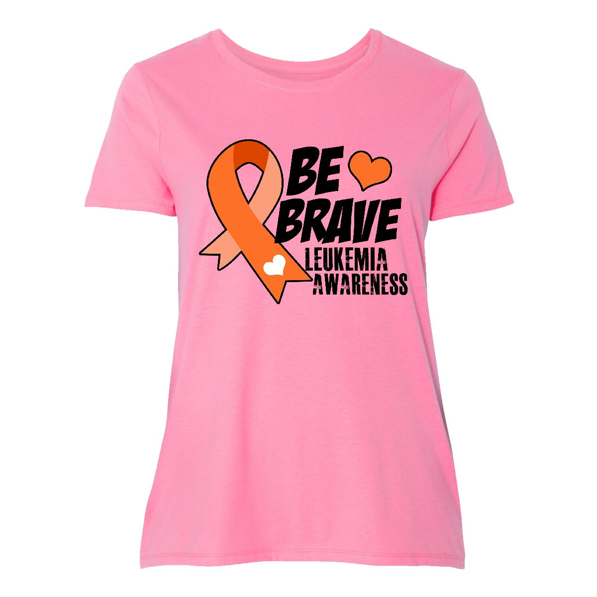 9a214060f50 Details about Inktastic Be Brave Leukemia Awareness Women s Plus Size  T-Shirt Cancer Ribbon My