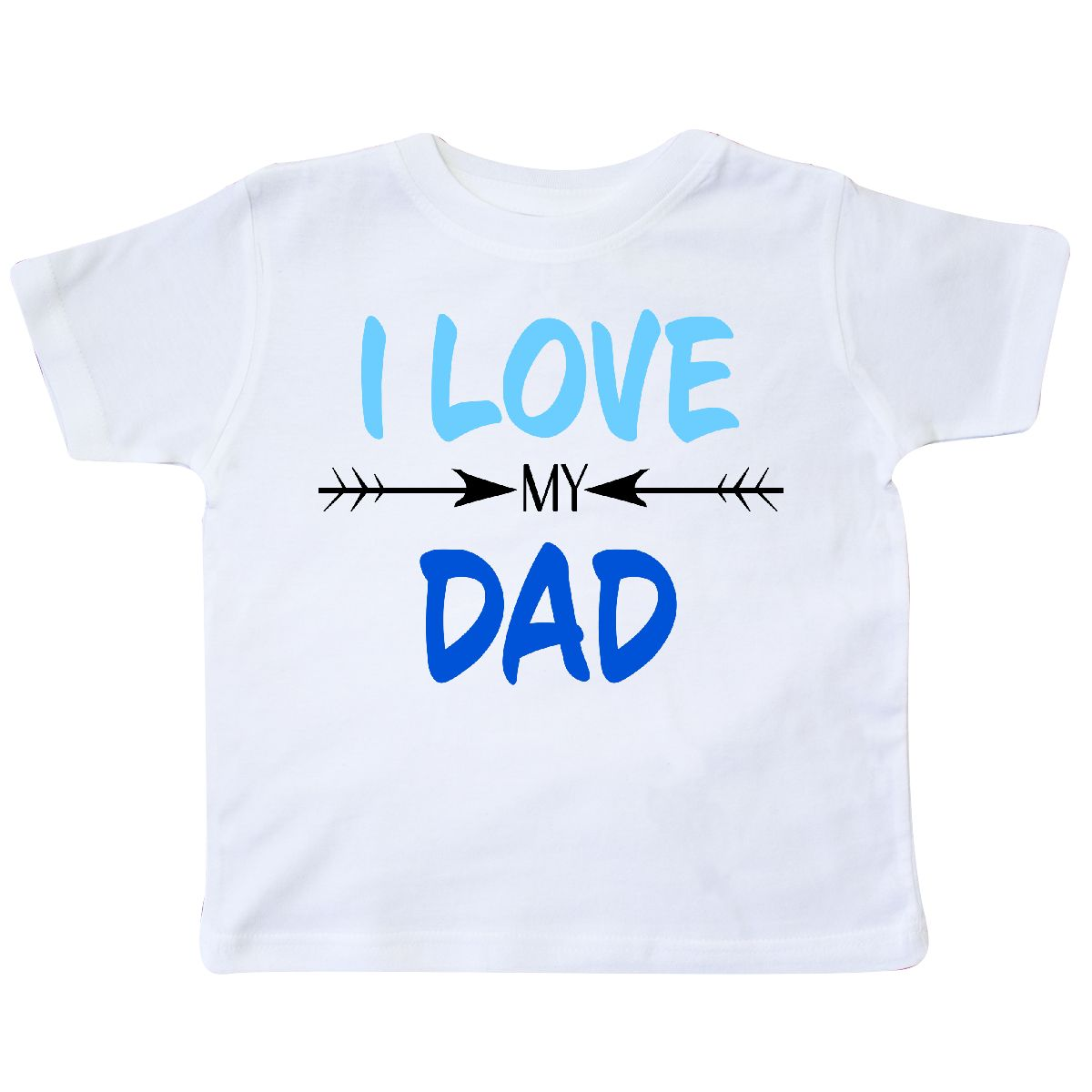 0e4d86dc Inktastic I Love My Dad Fathers Day Toddler T-Shirt For Kids Father ...