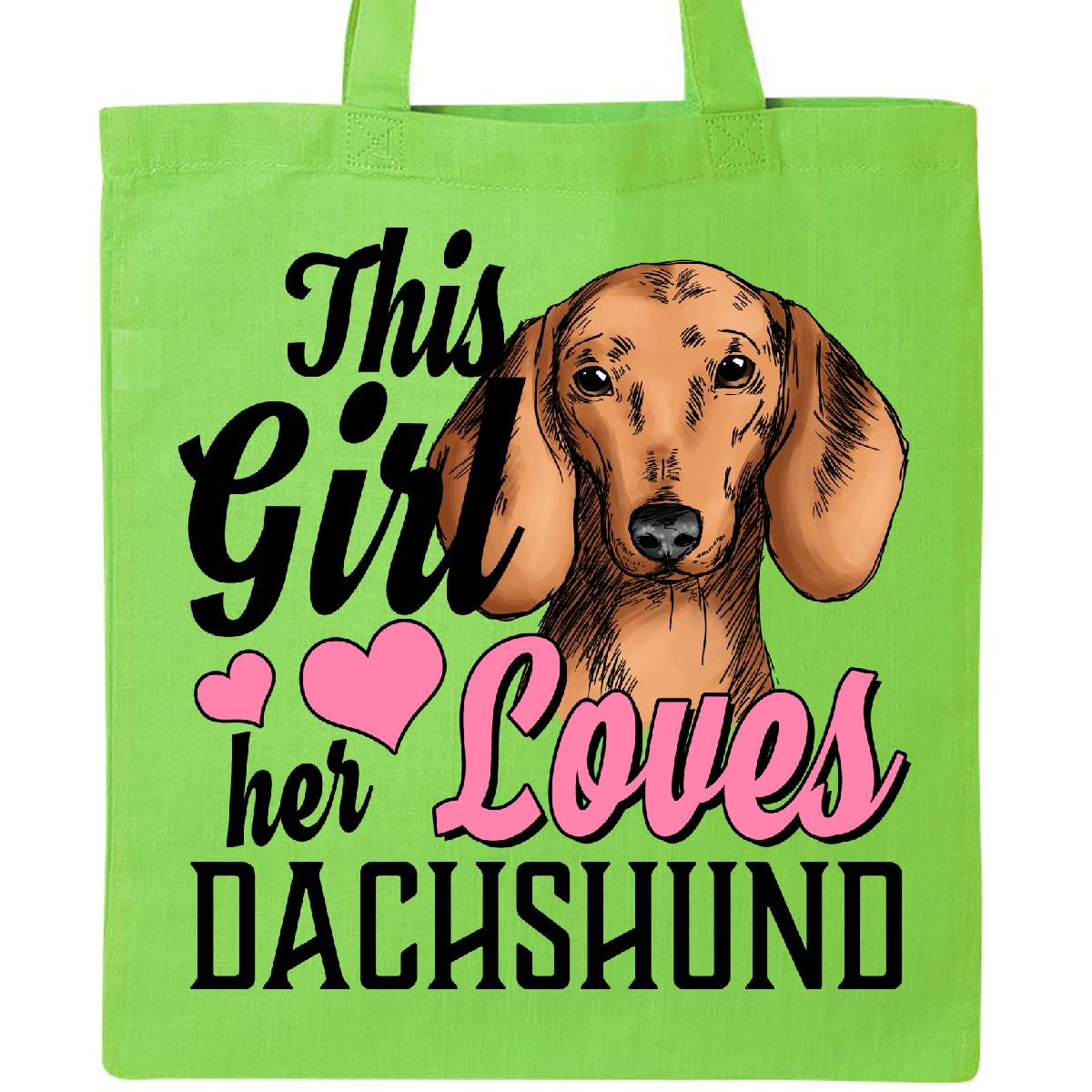 This Girl Loves Her Schnauzer Dog Lover Shopping Tote Bag For Life