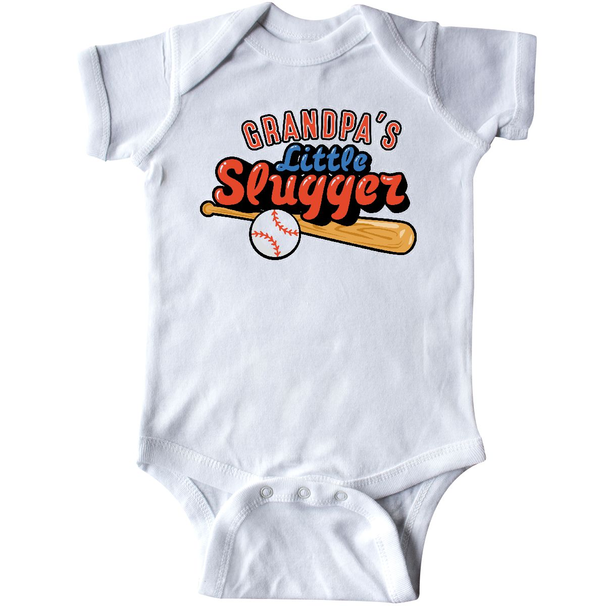 52ff2216a6860 Inktastic Grandpa's Little Slugger Infant Creeper Baseball Bat ...