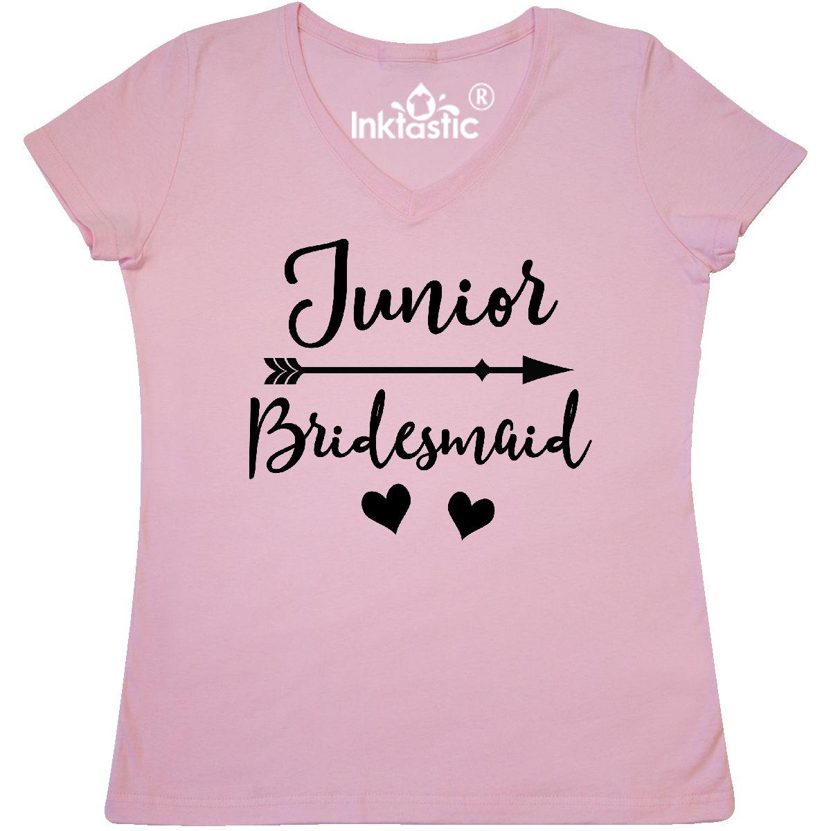 cd6e30a97351b Details about Inktastic Junior Bridesmaid Wedding Bridal Party Gift Women's  V-Neck T-Shirt Fun