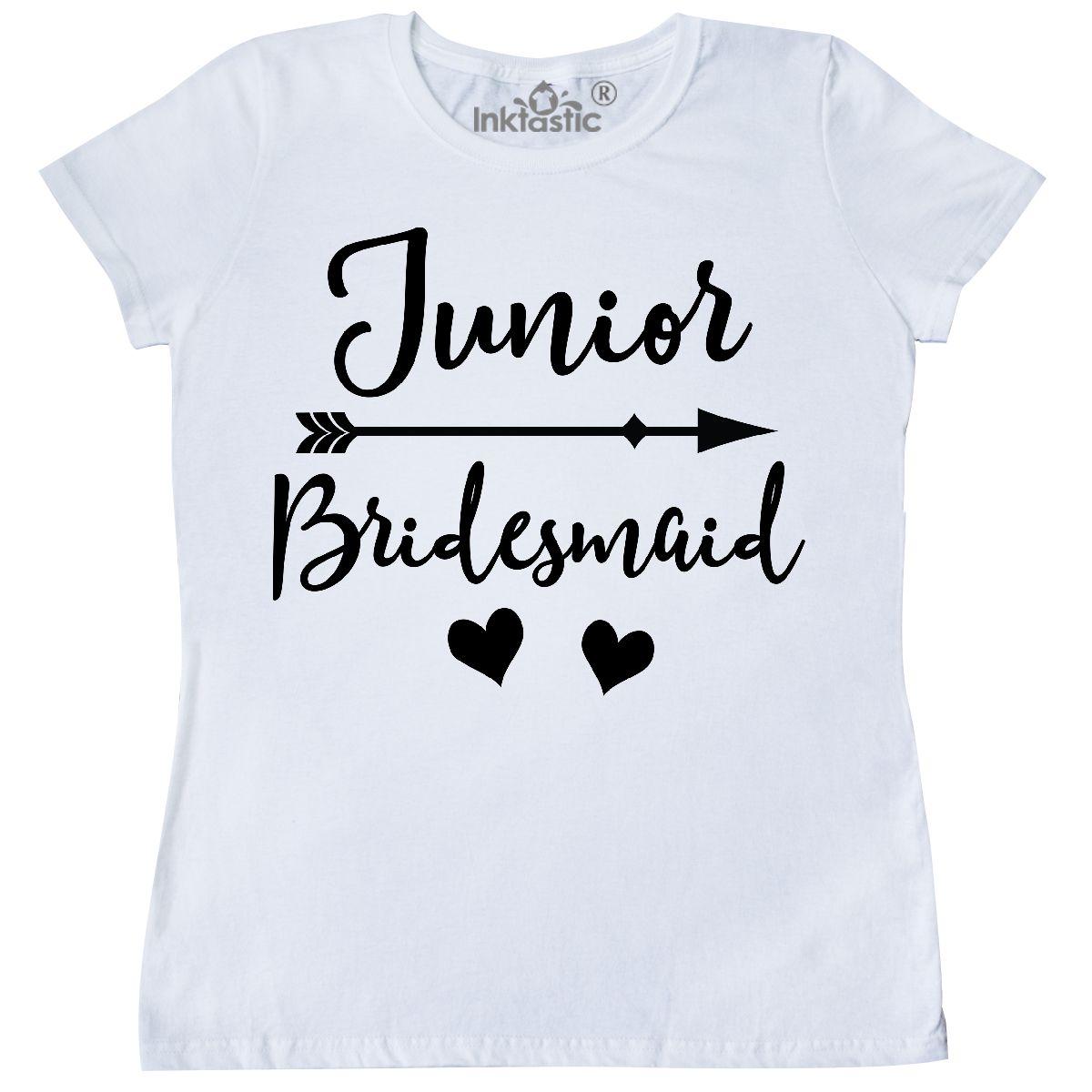 6292a5311f09a Junior Bridesmaid Wedding Bridal Party Gift Women's T-Shirt White Small