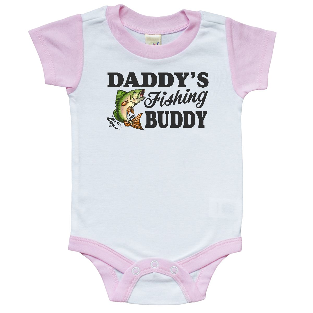 inktastic My Best Friend is My Fishing Buddy Baby T-Shirt