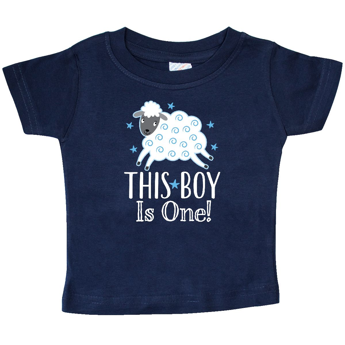 1st Birthday Baby Boy Lamb T Shirt Navy 24 Months