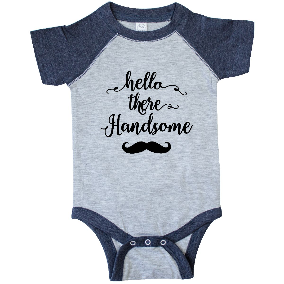 e3490f18d Inktastic Hello Handsome Infant Bodysuit Mustache Gifts For Couples ...