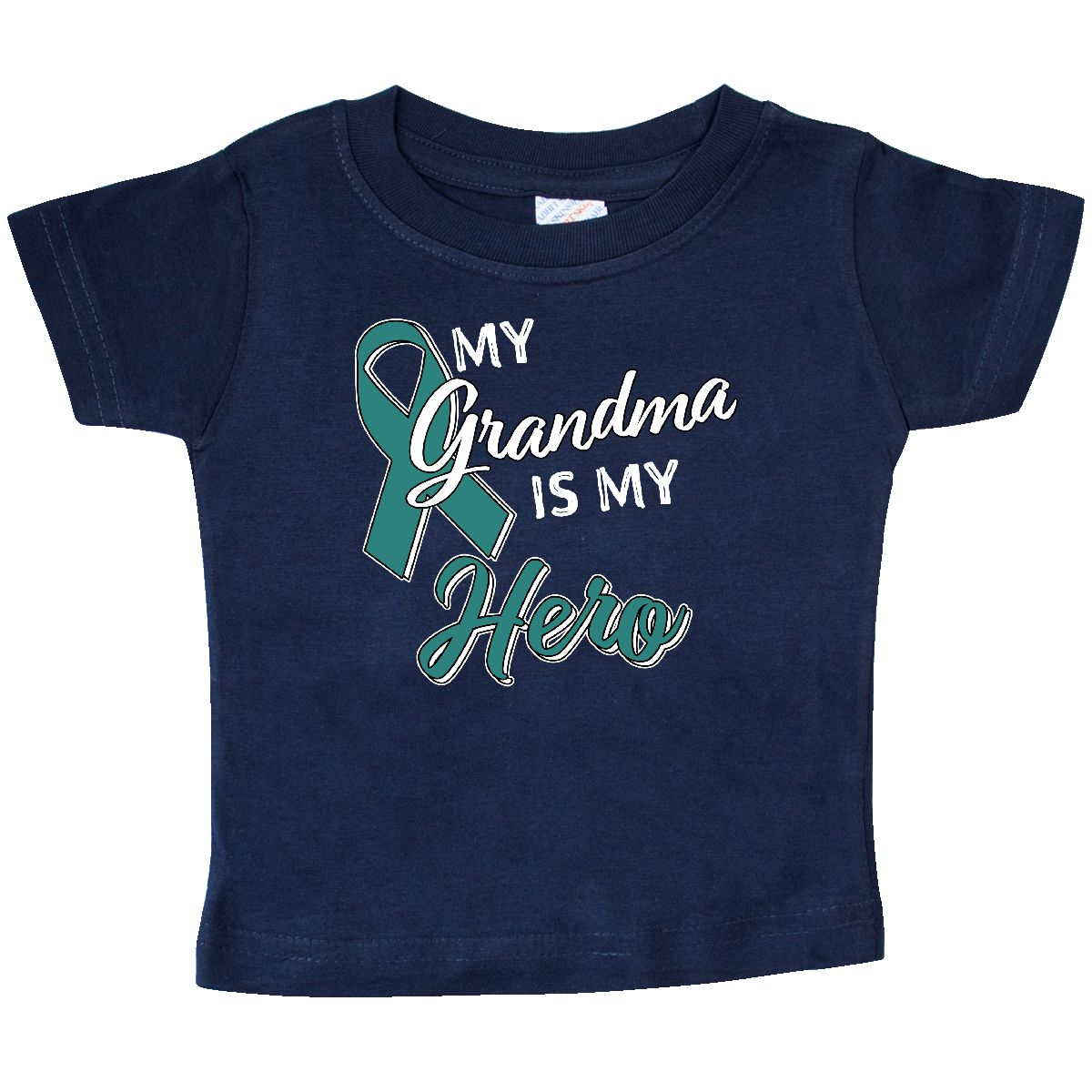inktastic Ovarian Cancer Awareness My Great Grandma is a Fighter Baby T-Shirt