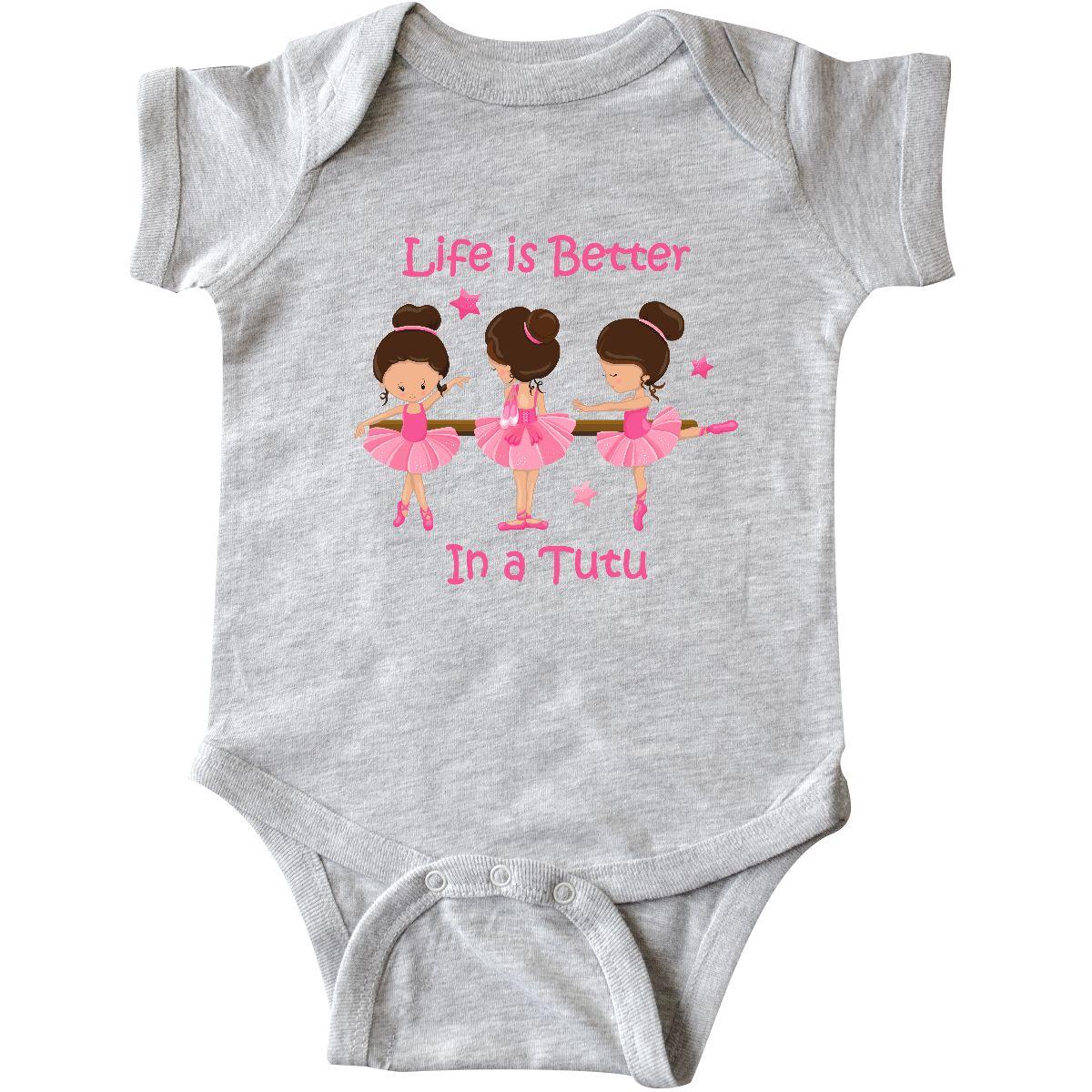 inktastic Ballerina Pink Ballet Slippers Infant Creeper