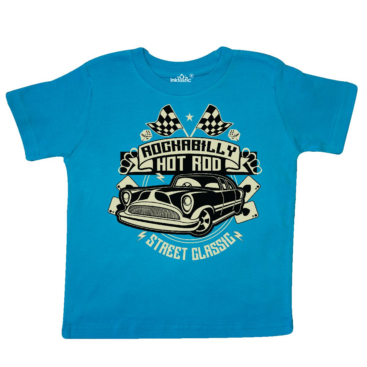 Inktastic-Rockabilly-Hotrod-Toddler-T-Shirt-Hot-Rod-Vintage-Car-Racing-Street thumbnail 7
