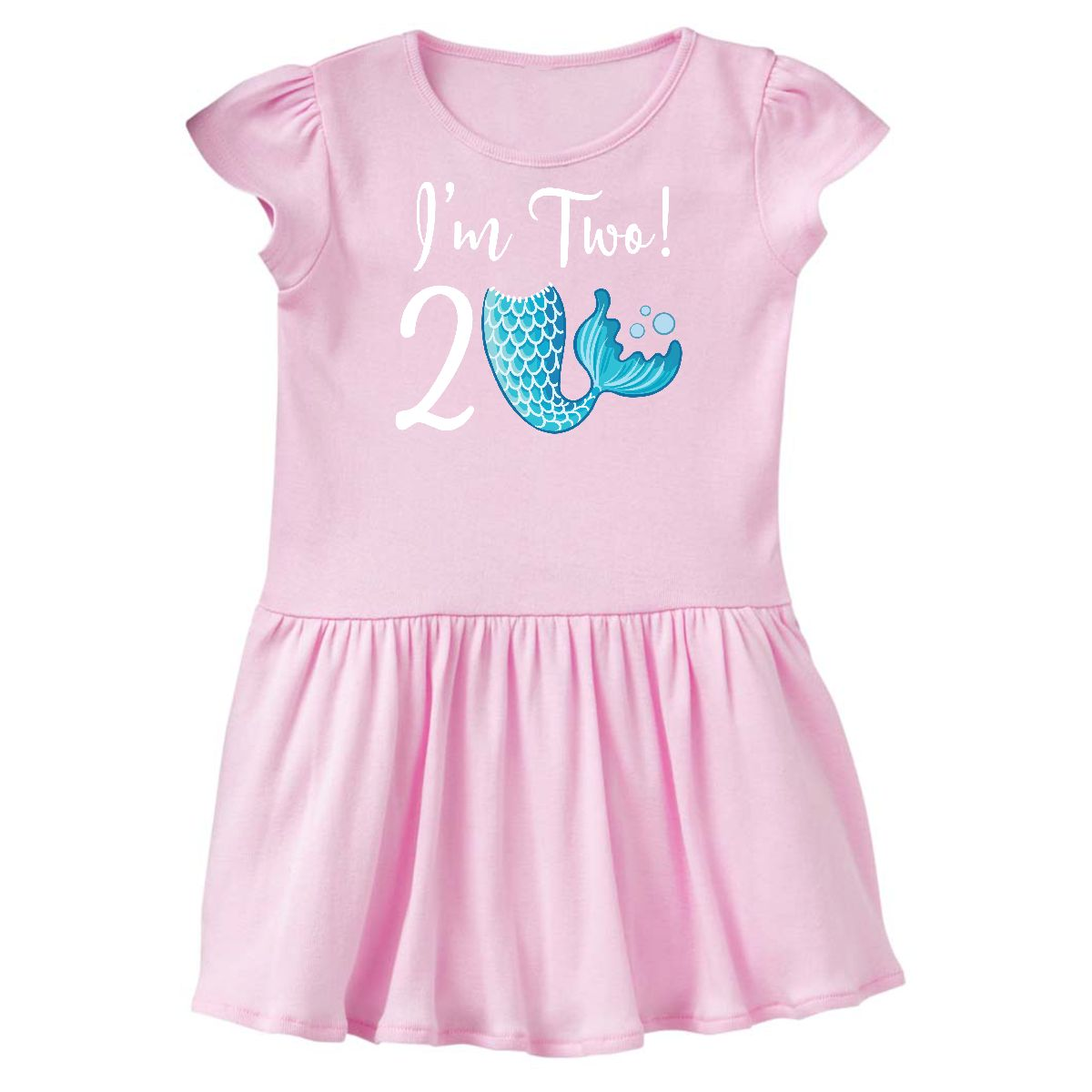 2nd Birthday Mermaid Party Toddler Dress Ballerina Pink 2T
