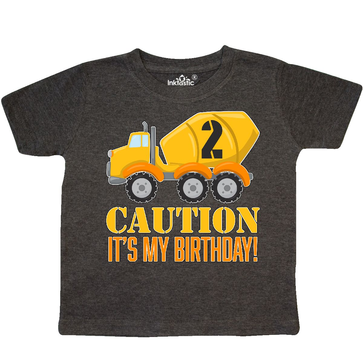 Inktastic 2nd Birthday Construction Truck Cement Mixer 2