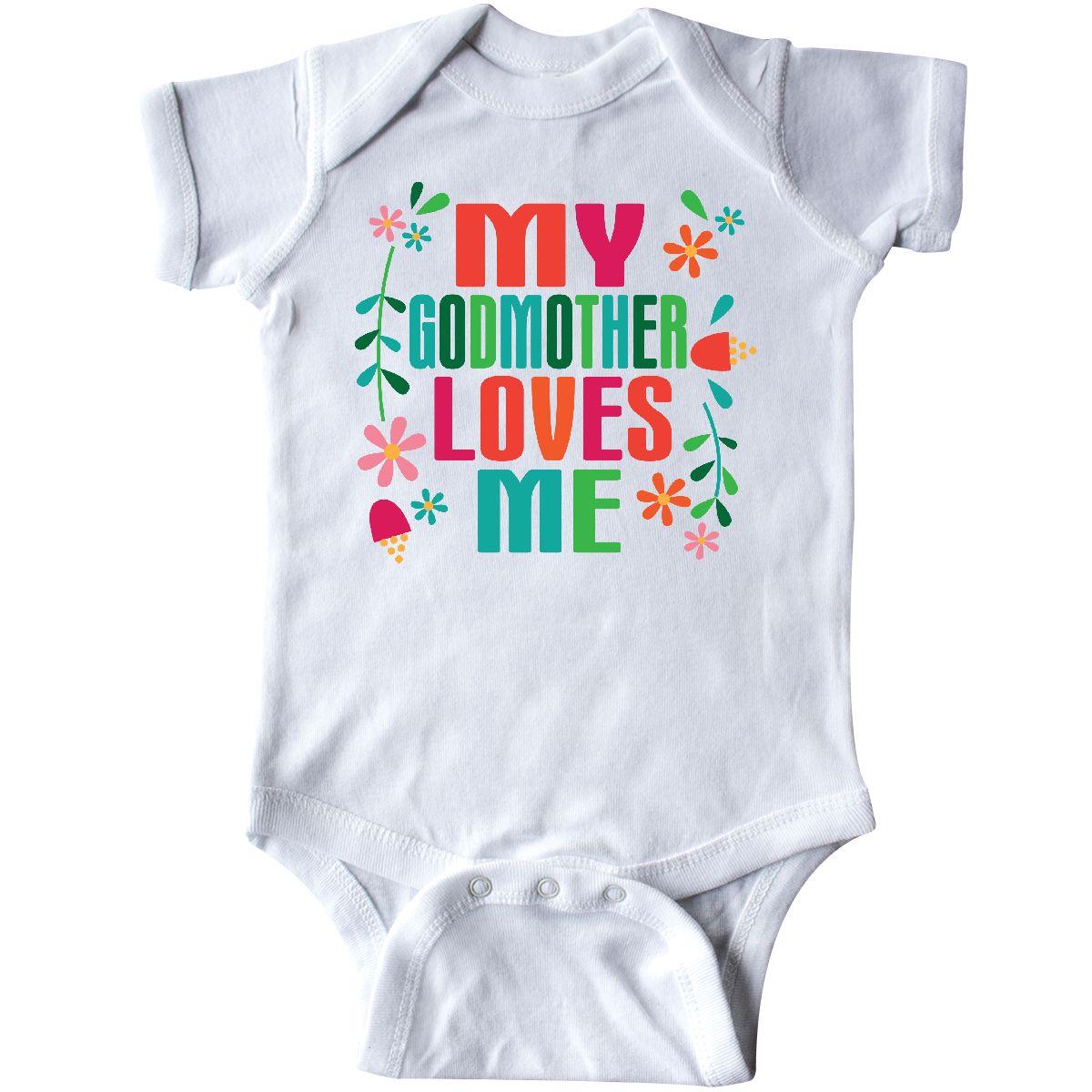 f4ed57904 Inktastic My Godmother Loves Me Girls Infant Bodysuit Goddaughter ...
