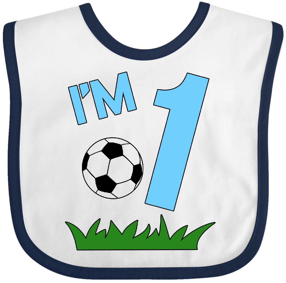 Inktastic Im One First Birthday Soccer Baby Bib