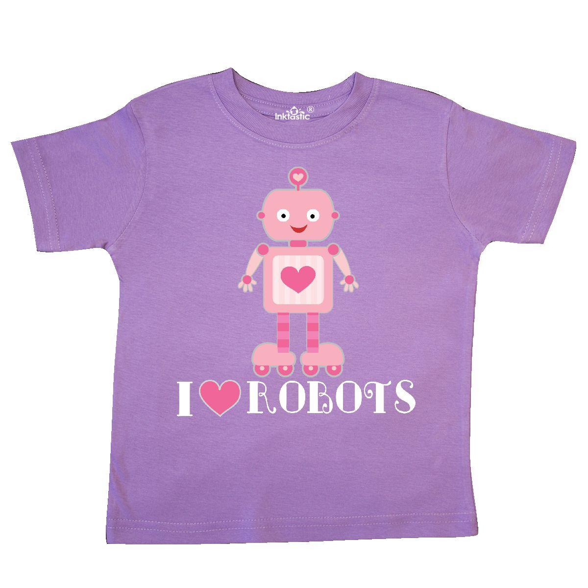 Inktastic-Robotics-I-Love-Robots-Girls-Toddler-T-Shirt-Heart-Childs-Gift-Lover thumbnail 3