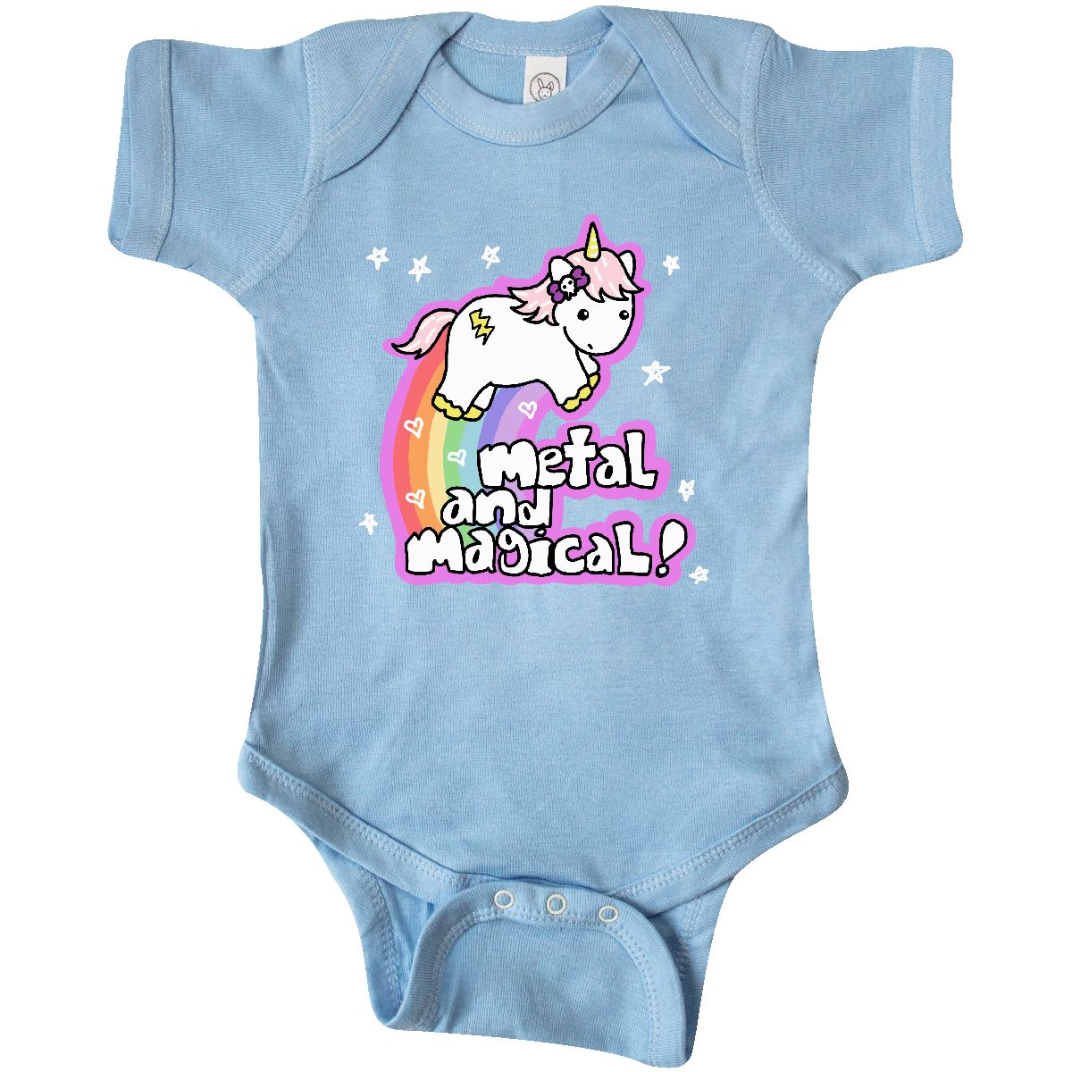 108d09d73 Inktastic Metal   Magical Unicorn Infant Bodysuit Goth Baby Clothes ...