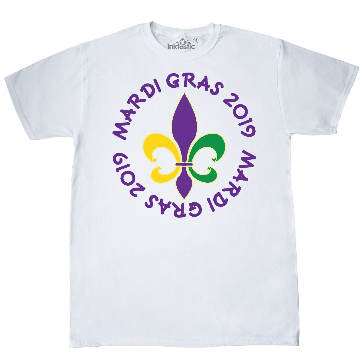 Inktastic 2019 Mardi Gras Holiday Crown T-Shirt Parade Party Fun Celebration New