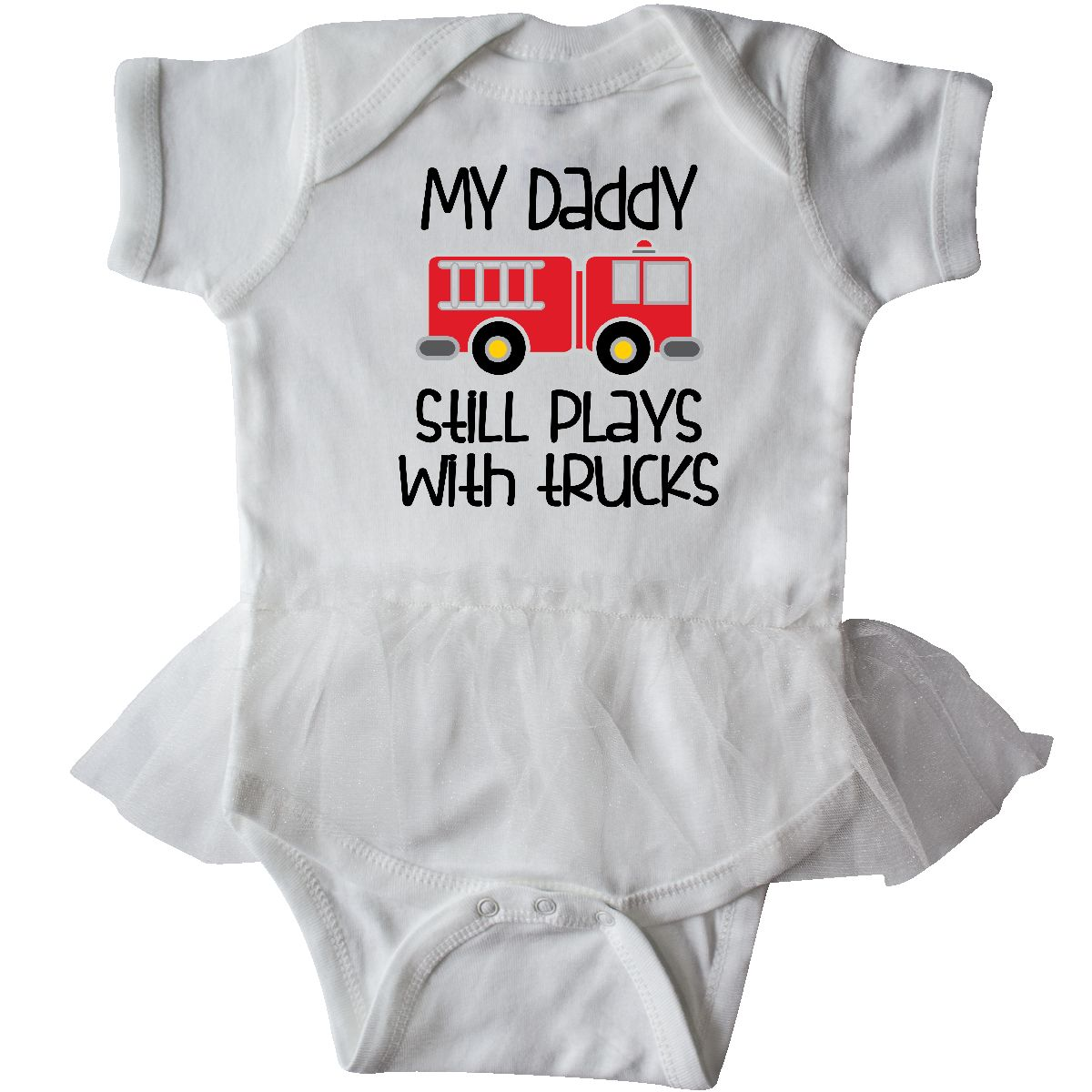 3b5e3ead5 Details about Inktastic Firefighter Daddy Plays With Trucks Infant Tutu  Bodysuit Fireman Truck