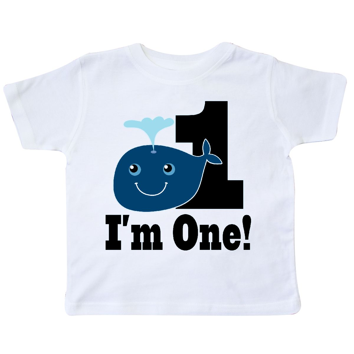 1st Birthday Boy Whale One Year Old Toddler T Shirt White 2T