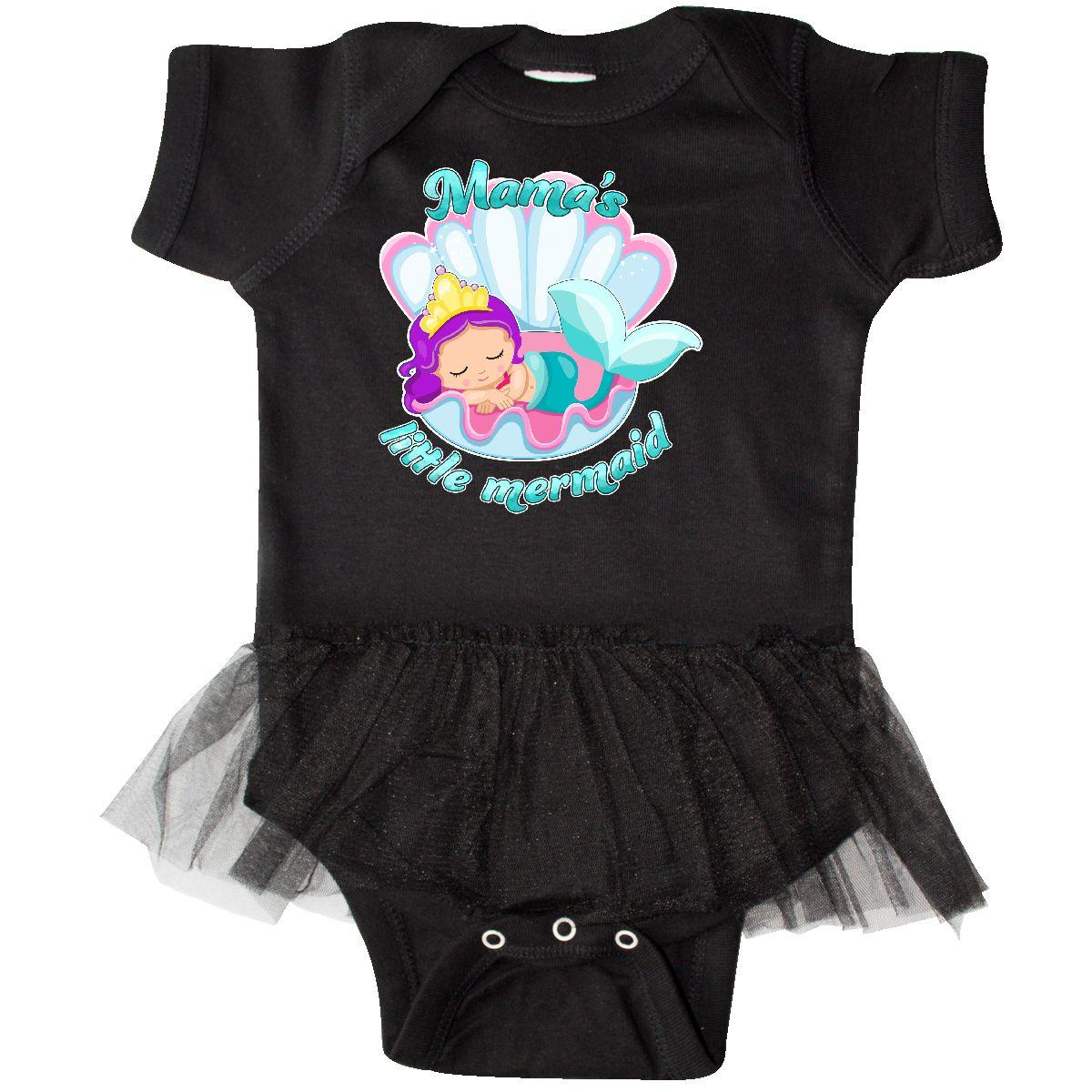 ca1e3ef1da1c6 Inktastic Mama's Little Mermaid Infant Tutu Bodysuit Mermaids Kids ...