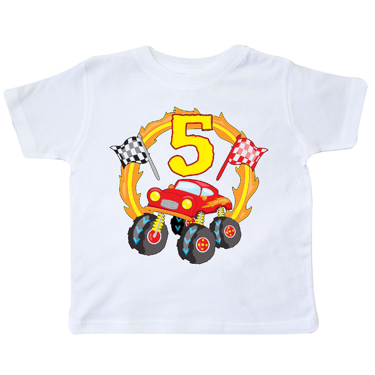 fc58d770 ... inktastic monster truck 5th birthday toddler t shirt birthdays fifth ...