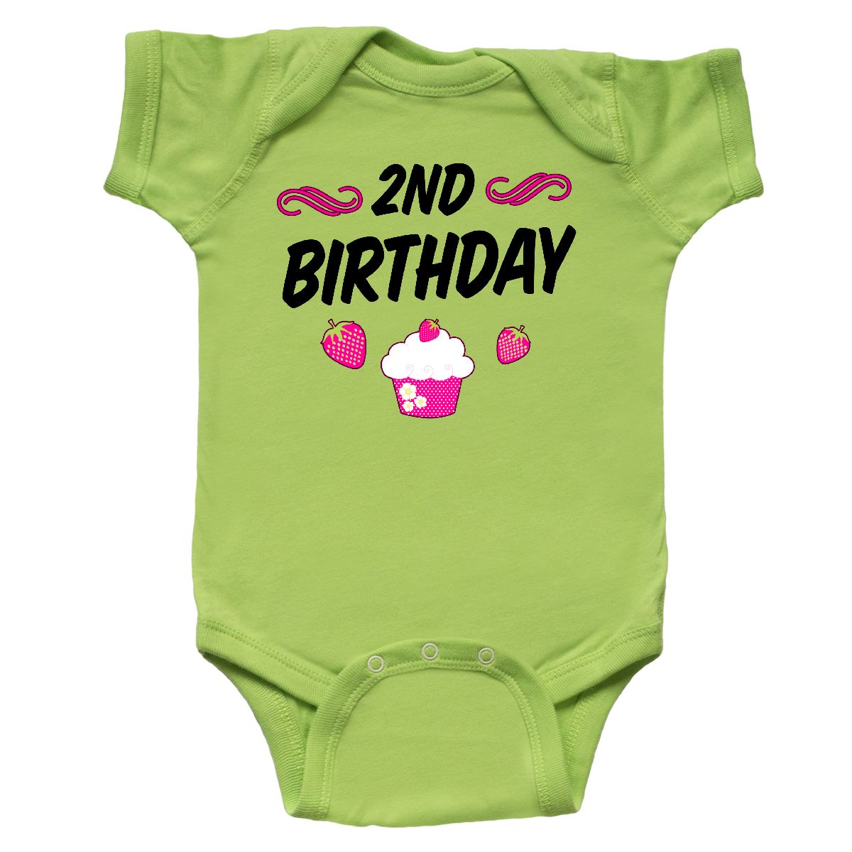 Inktastic 2nd Birthday Cupcake Toddler T-Shirt Birthdays Second Two Years Old 2