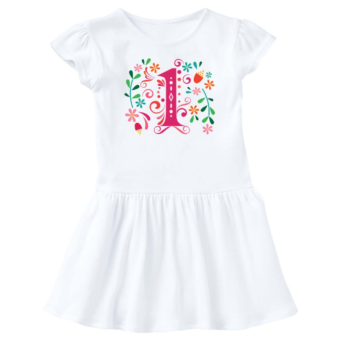 1st Birthday Party 1 Year Old Girls Infant Dress White 6 Months