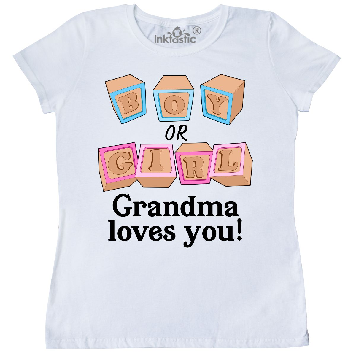Inktastic Pink Or Blue Nana Loves You Women/'s T-Shirt Reveal Grandma Party Love