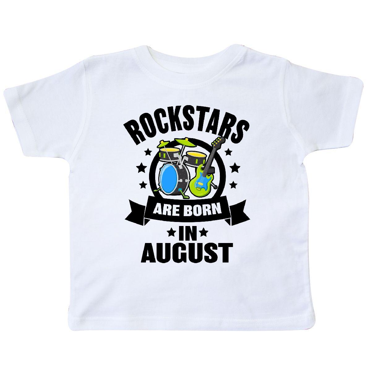 Inktastic Rockstars Are Born In August Birthday Toddler