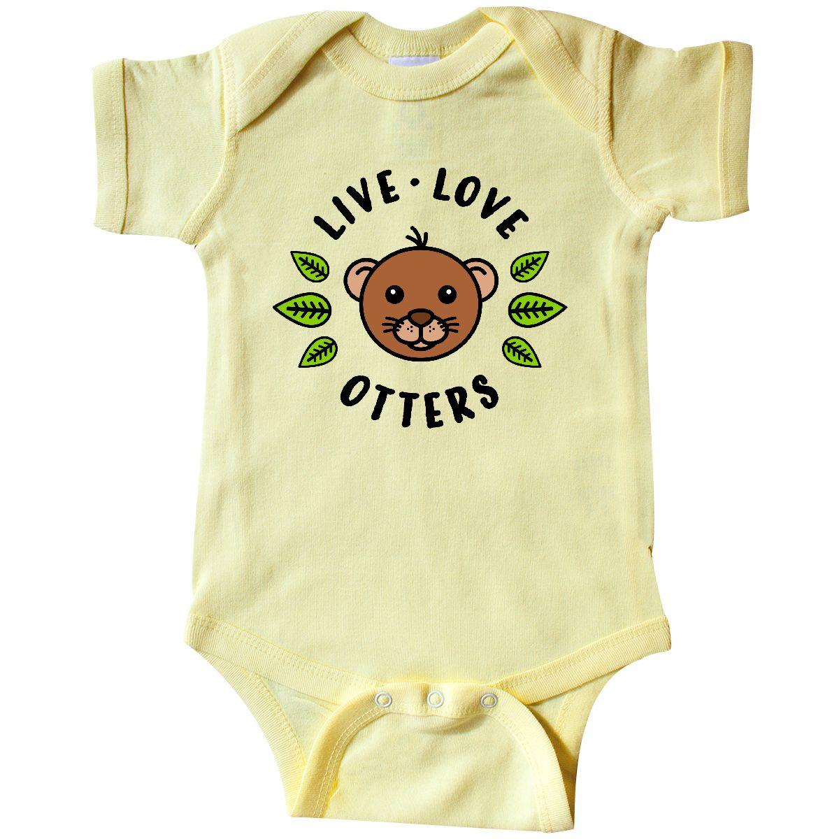 f27ec9e5e7d78 Inktastic Live Love Otters Infant Creeper Animals Otter Cute I Lover ...