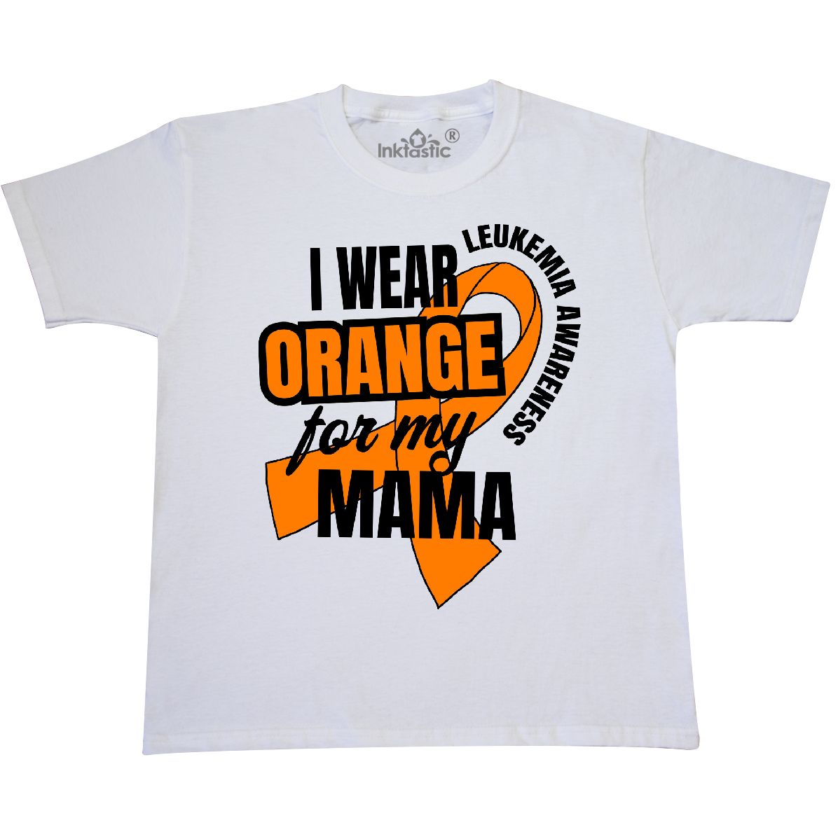 inktastic I Wear Orange for My Mom Leukemia Awareness Baby T-Shirt