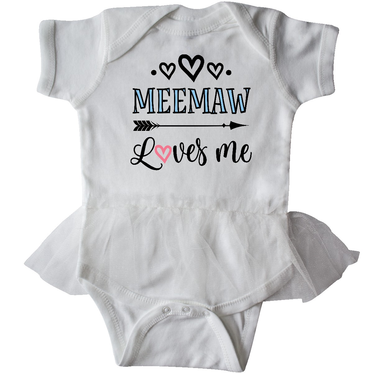 inktastic My Mimi Loves Mimi with Flowers and Hearts Infant Tutu Bodysuit